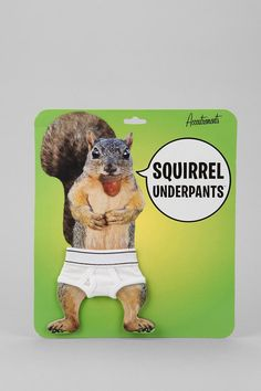 Squirrel Underpants. Because streaking squirrels have become a serious problem. #urbanoutfitters