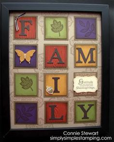 Thanksgiving card...luv the inchie blocks spelling FAMILY...Stampin Up...