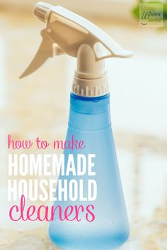 Homemade Natural DIY Cleaners Using Household Ingredients - Save money by making these natural DIY household cleaners with ingredients you probably already have in your kitchen! Not only are these recipes easy, but they don't have all those harmful chemicals that most brands at the store do.