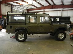 Willow Green Land Rover Defender 110