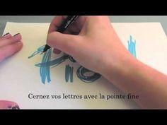 Tuto de calligraphie (style graffiti) - YouTube