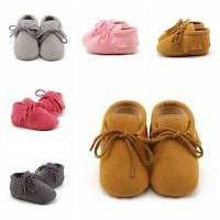 Baby Toddler Boy Girl Soft Sole Suede Crib Shoes Prewalker Shoes Infant Moccasin