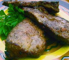 Fried Pork Liver with Lemon and Butter Sauce