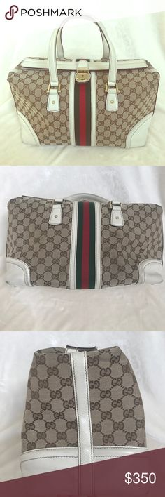 GUCCI HANDBAG PRICE FIRM Gorgeous Gucci Handbag. Has been previously worn but lots of life left!! Corners are a little worn. Bag closes on top with closure. 100% Authentic! Dimensions are 13x10x6. Gucci Bags Totes