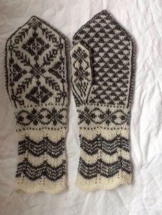 Selbu mittens by Lappesola on Etsy https://www.etsy.com/listing/231190652/selbu-mittens