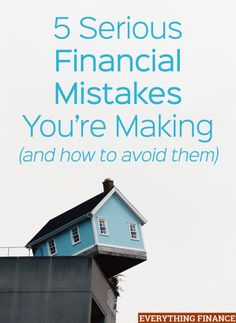 Be sure to steer clear of making these 5 common financial mistakes! Find out if you're digging yourself into a hole, and how you can get out with a plan.