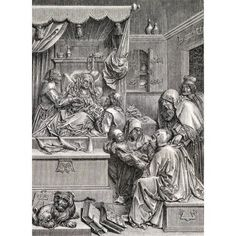 High Relief Sculpture By Albrecht Durer Of The Birth Of St John 16Th Century From Handbook Of The Arts Of The Middle Ages And Renaissance Published London 1855 Canvas Art - Ken Welsh Design Pics (12