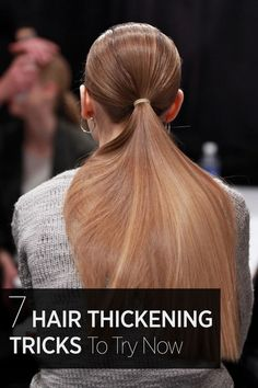 7 tips and tricks for styling and caring for your hair to make it look more thick and lush: