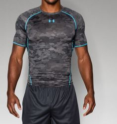 Mens UA HeatGear® Armour Printed Short Sleeve Compression Shirt - Under Armour Printed Tees, Printed Shorts, Under Armour, Sport Fashion, Fashion Outfits, Sports Illustrated Models, Ugg, Sports Women, Sport Outfits