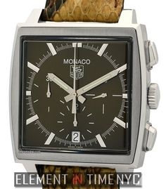 TAG Heuer Monaco Chronograph Stainless Steel Brown Dial Ref. CW2114 Price On Request