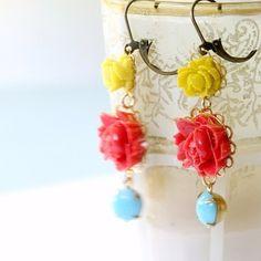Frida Earrings by NestPrettyThingsShop on Etsy, $24.00