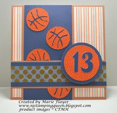 NJ Stamping Queen: Basketball Birthday for Freshly Made Sketch #129