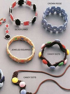 Make your own jewelry in plastic canvas