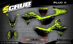 Fluorescent plastics and graphics - SCRUBdesignz