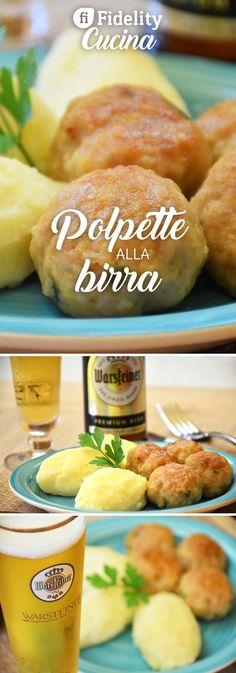 Le polpette alla birra sono una variante sfiziosa delle classiche polpette fritte. Ecco la ricetta ed alcuni consigli Beer Recipes, Mexican Food Recipes, Cooking Recipes, Polpette Recipe, Mama Cooking, Creative Food, Diy Food, Finger Foods, Food Inspiration