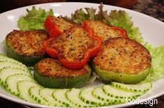 Tuna Pepper Cakes.  Change the tuna cake recipe to spicy paleo tuna cakes. But I like the pepper idea.