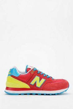 New Balance 574 Carnival Running Sneaker New Balance Style, New Balance 574, New Balance Women, Running Sneakers, Running Shoes, Trainer Boots, Kicks Shoes, Lace Up Trainers, New Balance Sneakers