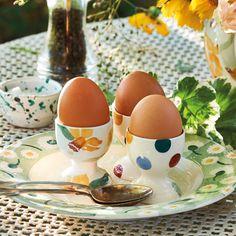 Daffodils Emma Bridgewater Themed Clay Tag Easter Egg
