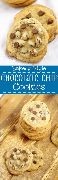 Bakery Style Chocolate Chip Cookies Recipe. Requires shortening.