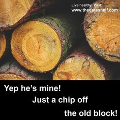 Are you a chip off the old block? Do you look and act and talk like your Father? That's your Heavenly Father that is. Take up your cross daily and follow in the steps of Jesus who said He could do nothing except what He saw or heard from His Father.