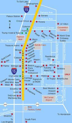 Image Result For Las Vegas Strip Hotels Map Las Vegas - Map of downtown las vegas hotels