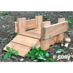 A hand made pretreated Three Billy Goats Gruff Bridge for your story garden. Children will love to trip trap over this. Encourages story telling and imaginative play. Small enough that you could use inside too. This would look lovely in a toddler garden.