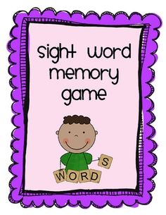 This sight word memory game will give your students plenty of practice learning those all important sight words.  Included are kindergarten, first ...