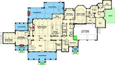 Plan 42838MJ: Palatial Traditional Home Plan With Fabulous Master Suite