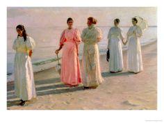 Promenade on the Beach. Michael Peter Ancher.