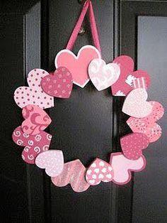 Szív, koszorú, ajtódísz