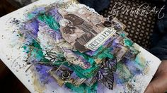 Mixed Media art journal cover... I had a great and magical creative weekend with so amazing ladies from Slovakia, Czech and Poland. This workshop was organized byour wonde...