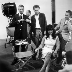 Nichols (far left) on the set of Who's Afraid of Virginia Woolf? with Elizabeth Taylor.