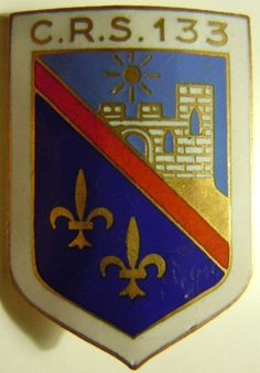 Insigne POLICE Obsolète CRS 133 MONTLUCON 1945/1950 AUGIS ORIGINAL FRANCE | eBay