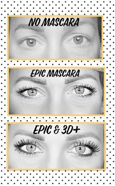 "My personal results using Youniques one step mascara ""Epic"" and then add the 3D+  Get your EPIC on August 1st, 2017 at makeyourlashesthebomb.com First Step, Younique, Best Makeup Products, Need To Know, Mascara, Lashes, Eyeshadow, 3d, Artist"