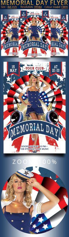 Memorial Day Patriotic Flyer by oloreon on @creativemarket