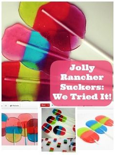 These are too cute! Fun & Easy Jolly Rancher Lollipops Kids Will Love To Help Make (VIDEO) http://thestir.cafemom.com/food_party/166889/fun_easy_jolly_rancher_lollipops?utm_medium=sm&utm_source=pinterest&utm_content=thestir