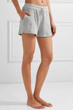 Skin - Waffle-knit Cotton Shorts - Gray -