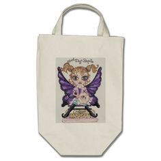Most Days Require Cookies Fairy Tote Bag zazzle.com/CapeCodGiftShop