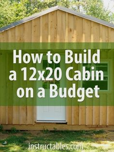 Building a cabin yourself is much more economical than buying a prefab storage shed. The cost of materials for this build, including doors and windows, was around. Tiny House Cabin, Tiny House Plans, Tiny Houses, Shed Houses, Tiny Cabin Plans, Shed Cabin, Shed To Tiny House, Guest Houses, Boat House