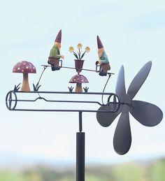 Spinning gnome garden stake