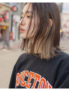 【Violet】チラッと見える、インナーカラーがおしゃれ**:L054692968|バイオレット 栄店(Violet)のヘアカタログ|ホットペッパービューティー Two Color Hair, Korean Hair Color, Hair Color Streaks, 90s Grunge Hair, Short Grunge Hair, Hair Color Underneath, Hair Arrange, Aesthetic Hair, Hair Images