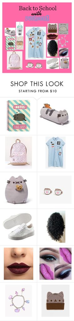 """#PVxPusheen"" by moon-child-lee ❤ liked on Polyvore featuring Pusheen, Gund, Puma, LASplash, BackToSchool, contestentry and PVxPusheen"