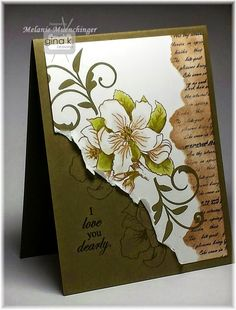 Card and Stately Flowers 9 stamp set by Melanie Muenchinger for Gina K. Designs. Hands, Head and Heart