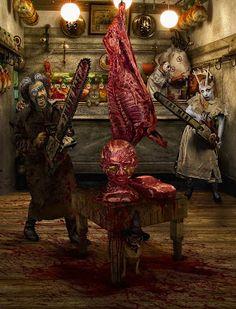 Halloween Butcher Shop