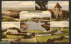 Postcard West Wittering near Chichester Sussex multiview