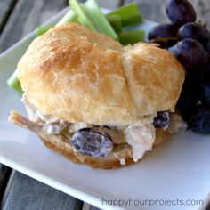 Chicken Salad With Grapes- I don't like chicken much, but this kind of sounds good.