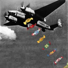 Candy Bomber During the Berlin Air Lift an American pilot would drop candy from his plane during his landing.