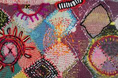 Emboidery on Knitting by Amanda Goode