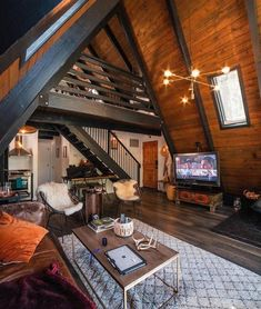 Guess the price of this cabin! Tiny House Cabin, Tiny House Design, Cabin Homes, Triangle House, A Frame House Plans, Rustic Home Design, Cabin Interiors, Cozy Cabin, Architecture Design