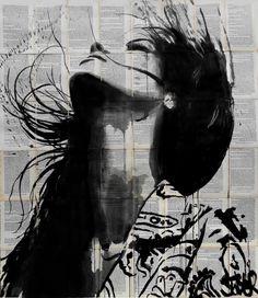 "Saatchi Art Artist LOUI JOVER; Drawing, ""wild flower........"" #art"